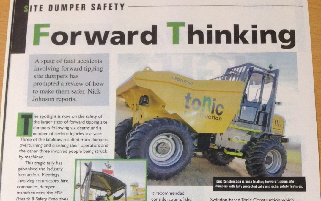 We're in Construction Plant News magazine - Tonic Construction