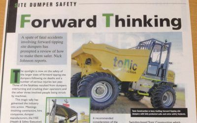 We're in Construction Plant News magazine