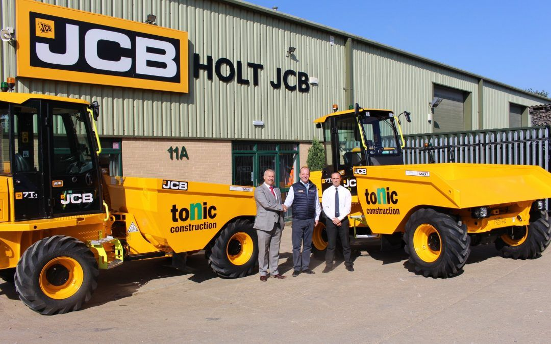 Delivery of JCB Hi-Viz dumpers